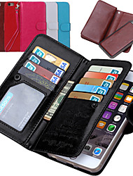 cheap -For iPhone 8 iPhone 8 Plus iPhone 7 iPhone 7 Plus iPhone 6 iPhone 6 Plus Case Cover Wallet Card Holder Flip Full Body Case Solid Color