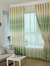 cheap -Rod Pocket Grommet Top Tab Top Double Pleat Pencil Pleat Two Panels Curtain Country Modern Neoclassical Mediterranean Rococo Baroque