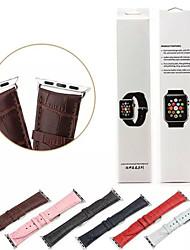 abordables -Bracelet de Montre  pour Apple Watch Series 3 / 2 / 1 Apple Boucle Classique Vrai Cuir Sangle de Poignet