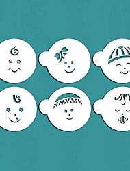 Baby Faces Cookie Stencils, Cupcake Stencil, Stencil for Cake Decorating,Cookie Stencil,ST-494
