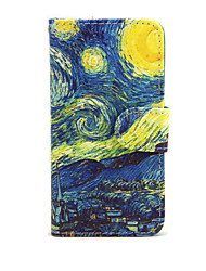 Caso para Apple iphone 7 7 mais iphone 6s 6 mais capa cobre os casos de couro starry sky pattern para iphone se 5s 5c 5 iphone 4s 4