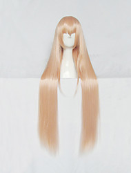 Parrucche Cosplay Himouto Cosplay Bianco Lungo Anime Parrucche Cosplay 100 CM Tessuno resistente a calore Donna