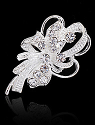 cheap -Women's Brooch Floral Acrylic Diamond Fashion Crystal Imitation Diamond Flower Jewelry For Wedding Party