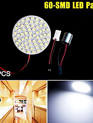 cheap -5PCS Xenon White 1156 BA15S T10 60-SMD LED Light Panel RV Trailer Interior Dome