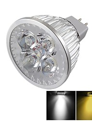 GU5.3(MR16) LED Spotlight MR16 4 High Power LED 400 lm Warm White Cold White 3000/6000 K Dimmable Decorative DC 12 V