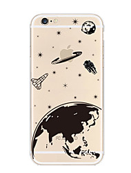 cheap -Playing with Apple Logo Space Pattern TPU Soft Case for iPhone 7 7 Plus 6s 6 Plus