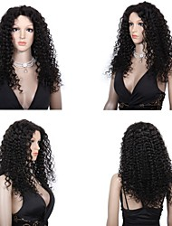 cheap -Human Hair Full Lace / Lace Front Wig Curly Wig 130% Natural Hairline / African American Wig / 100% Hand Tied Women's Short / Medium Length / Long Human Hair Lace Wig