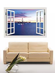 Architektura / Komiks / Romantika / Módní / Krajina / Tvary / Fantazie / 3D Samolepky na zeď 3D samolepky na zeď , PVC90cm x 60cm( 35in x