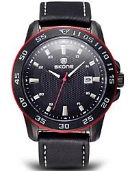 levne -SKONE Pánské Křemenný Náramkové hodinky Sportovní hodinky Kalendář Voděodolné Kůže Kapela Přívěšky