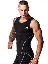 abordables -Hombre Top corto de running - Blanco, Negro Deportes Moda Tank Tops / Camiseta / Top Ropa de Deporte Listo para vestir, Suave, Compresión