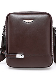 cheap -Men Bags PU Shoulder Bag Satchel for Shopping Casual Formal Office & Career All Seasons Black Brown