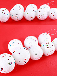 "cheap -12PCS/SET 4-6CM/1.6-2.4"" Christmas Tree Decorations Hanging Bubles Foam Snow Ball Party Festival Xmas Ornaments"