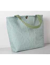 Women Bags All Seasons Canvas Tote for Casual Deep Green Light Green