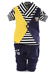 cheap -Boys' Clothing Set, Cotton Spring Fall Long Sleeves Stripes Blue