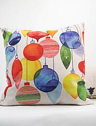 1 pcs Coton Lin Coton/Lin Housse de coussin Nouveaux Oreillers Taie d'oreiller,Fleur Géométrique Motif Animal Tartan Nouveauté Texturé