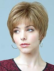 "baratos -ultrashort top reta humano virgem monofilamento Mechas (1 "") do sexo feminino peruca sem tampa"