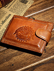 Men Cowhide Formal Casual Outdoor Office & Career Shopping Wallet Card & ID Holder Coin Purse Fall