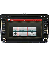 7 polegadas 2DIN carro dvd player para volkswagen com gps, canbus, RDS, bt, estacionamento trajetória, ipod, touch screen