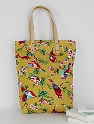 baratos -Mulheres Bolsas Tela de pintura Tote para Casual Ao ar livre Todas as Estações Amarelo
