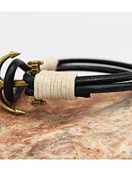 billige -Læder Armbånd - Anker Vintage, Afslappet Armbånd Skærmfarve Til