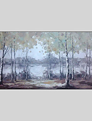 cheap -Hand-Painted Landscape Horizontal Panoramic, Style Canvas Oil Painting Home Decoration One Panel