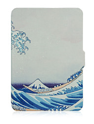 Shy Bear™ 6 Inch Leather Cover Print Case for Amazon Kindle Paperwhite Ebook