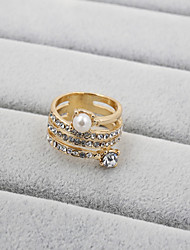 cheap -Women's Band Ring Pearl Rhinestone Imitation Diamond Fashion Wedding Party Daily Casual Sports Costume Jewelry