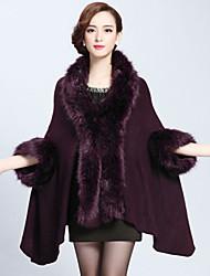 Faux Fur Imitation Cashmere Wedding Wedding  Wraps Fur Coats Hoods & Ponchos With Feathers / fur Capes