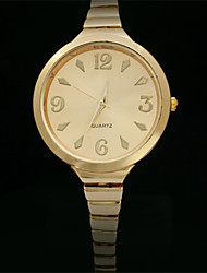 Недорогие -Эбби последней моде позолоченная кварцевые часы, модные дамы Watche