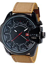 cheap -Men's Wrist Watch Fashion Fabric Band Casual Blue / Brown / Khaki