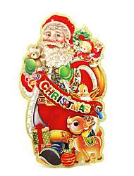 cheap -Christmas Decorations Old Man Window Sticker Contemporary , Art Deco M:35*20cm,L:45*24cm,XL:50*30cm,XXL:73*40cm,