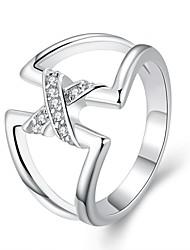 Dámské Prsteny s kamenem Módní minimalistický styl Evropský bižuterie Postříbřené Geometric Shape Šperky Pro Párty
