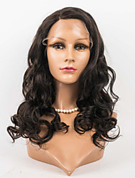 cheap -Human Hair Lace Front Wig Body Wave Wig 120% Ombre Hair / Natural Hairline / African American Wig Women's Medium Length Human Hair Lace Wig / 100% Hand Tied