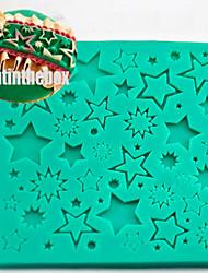 Недорогие -Звезда текстура зерно печать выпечка DIY силикон шоколад сахар торт плесень цвет случайный