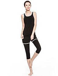 Dame Træningsdragt Uden ærmer Hurtigtørrende Åndbart Komprimering letvægtsmateriale Tank Tops Tøjsæt for Yoga Træning & Fitness Løb