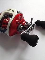 baratos -Molinetes de Pesca Molinete de Isca 6.3:1 Relação de Engrenagem+12 Rolamentos Destro Isco de Arremesso / Pesca de Água Doce / Pesca Geral