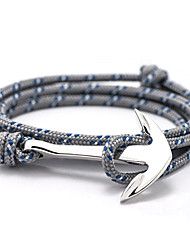 cheap -2015 New High Quality Jewelry Navy Risers Silver Anchor Bracelet For Men Women inspirational bracelets Christmas Gifts