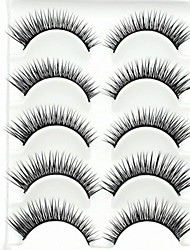 cheap -New 5 Pairs Super Natural Black Long Thick False Eyelashes Eyelash Eye Lashes for Eye Extensions