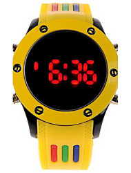 cheap -Unisex Digital LED Colorful Rubber Sport Watch Wrist Watch Cool Watch Unique Watch Fashion Watch