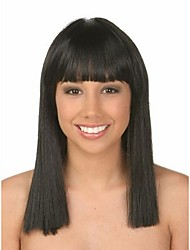 cheap -Natural Color Wig Wears Women Lady  Bob Syntheic Wig Banged Extensions