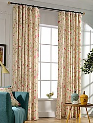 cheap -Grommet Top Double Pleat Two Panels Curtain Modern Neoclassical Country, Print Bedroom Polyester Material Curtains Drapes Home Decoration