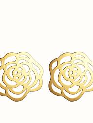 Серьги-гвоздики Сплав Мода В форме цветка Серебряный Золотой Бижутерия Для вечеринок Повседневные 2 шт.