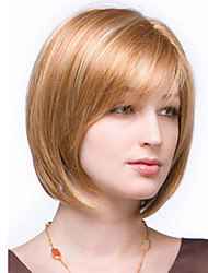 cheap -Color Mixture Synthetic Medium Wig To European Women Lady Cheapest Price Extensions