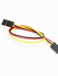 Недорогие -DuPont 3-контактный 2.54мм женщин и женщин расширение проводной кабель для arduino- (20см)