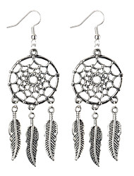 cheap -Women's Drop Earrings - Leaf Personalized, Vintage, Bohemian Silver For Party / Daily / Casual