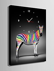 cheap -Modern/Contemporary Canvas Rectangular Indoor,AA Wall Clock