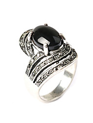 cheap -Women's Statement Ring - Resin, Silver Plated Fashion One Size Black / Red For Party