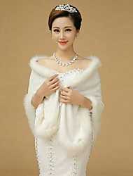 cheap -Sleeveless Imitation Cashmere Wedding Party Evening Shawls Fur Wraps Wedding  Wraps Shawls