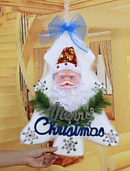 """48 * 34cm / 19 * 13.4 """"mousse d'arbre de Noël fenêtre de l'église de décoration à domicile portes noël  décorations de l'hôtel Santa"""