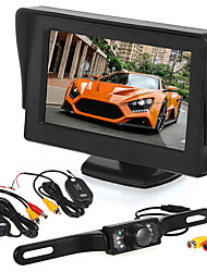 cheap -Car reversing monitoring4.3 inch display/ LED license camera/wireless transmitter and receiver